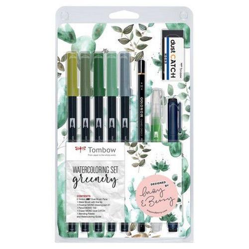 Tombow Watercoloring set greenery WCS-GR