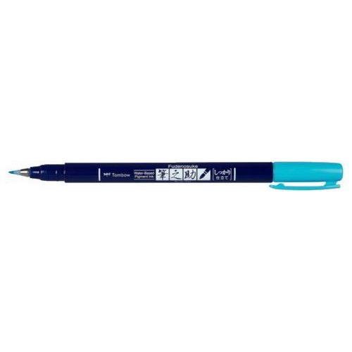 Tombow Brush pen Fudenosuke hard neon blauw 19-WS-BH96