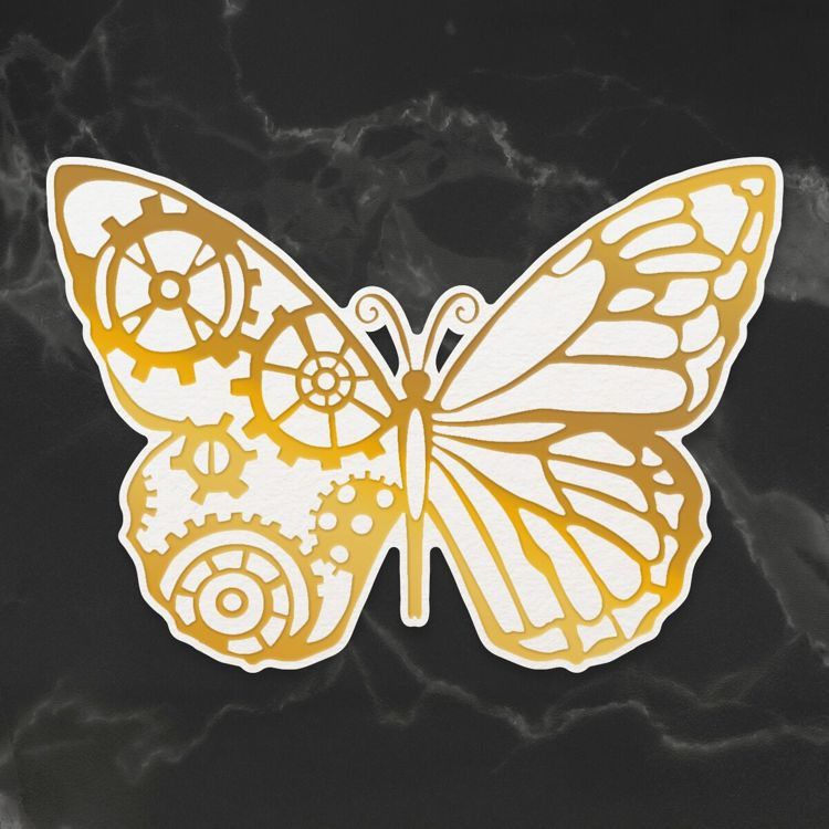 Cut & Create Die - Steampunk Dreams - Steampunk Butterfly (1pc)