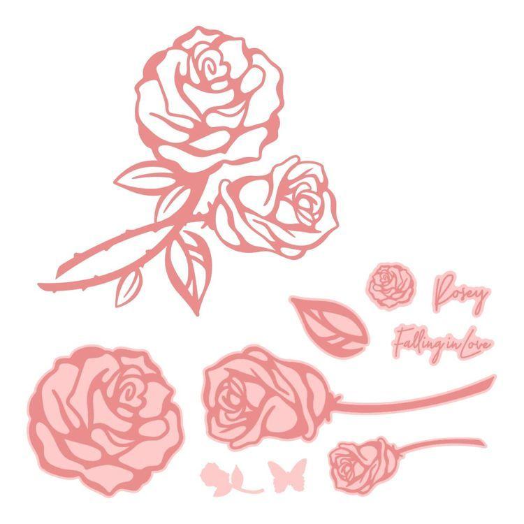 My Secret Love Stamp and Die Set