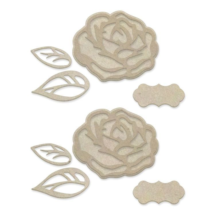 Layered Roses Chipboard Set (10pc)