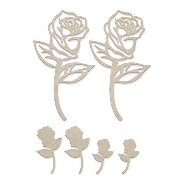 Rose Blooms Chipboard Set (6pc)