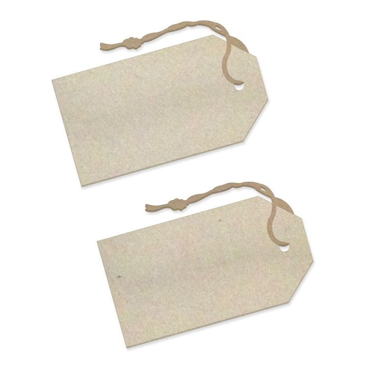 Secret Tags Chipboard Set (2pc)