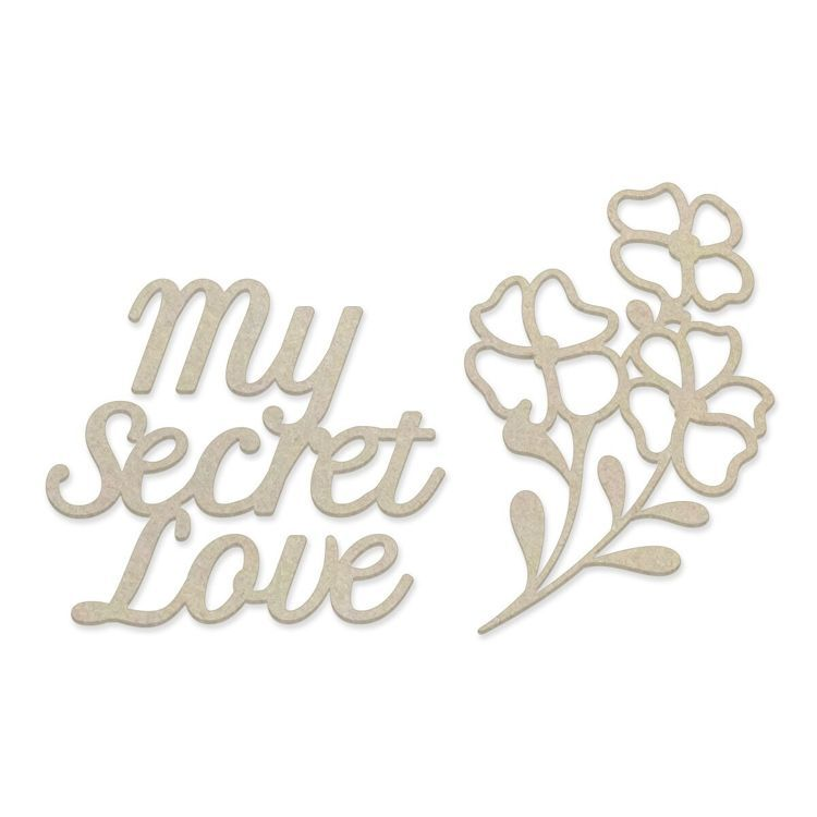 My Secret Love Chipboard Set (2pc)