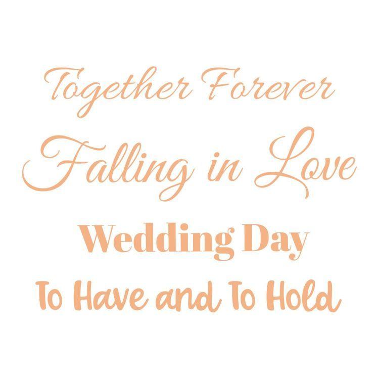 Wedding Day Mini Sentiment Stamp Set (4pc)