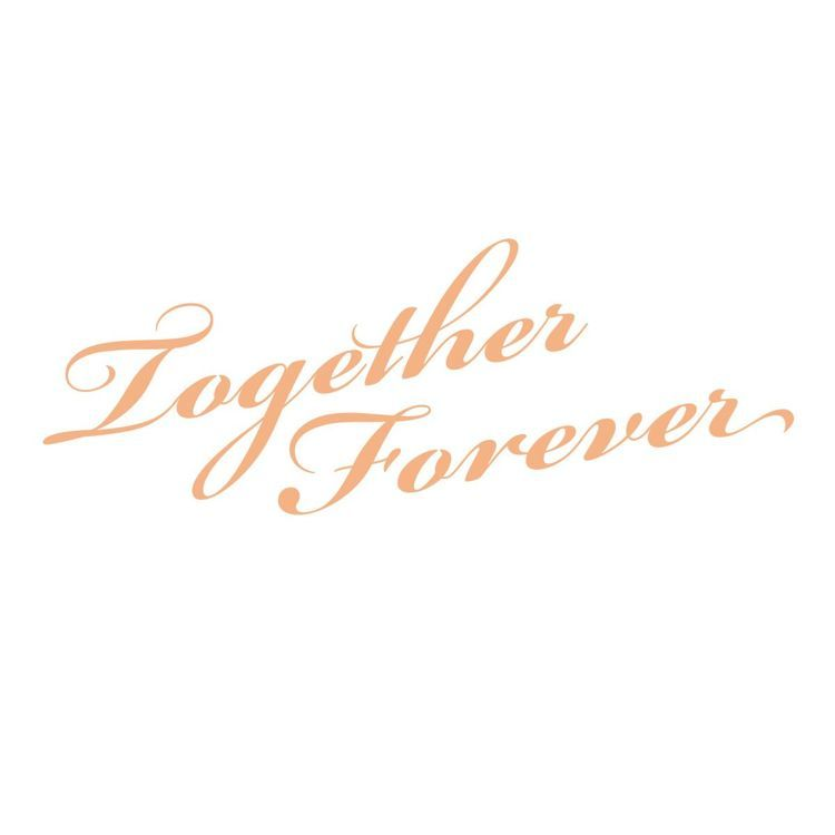 Together Forever Sentiment Mini Stamp (1pc)
