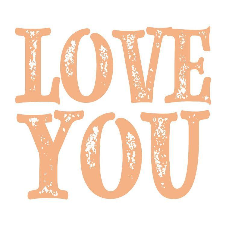 Love You Sentiment Mini Stamp (1pc)