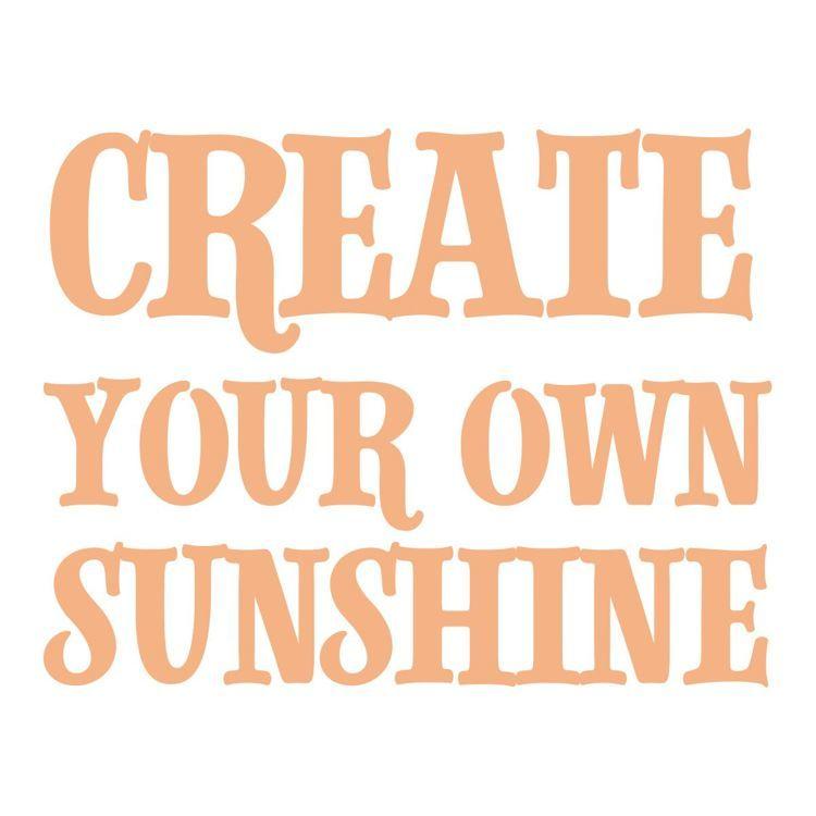 Create Your Sunshine Sentiment Mini Stamp (1pc)