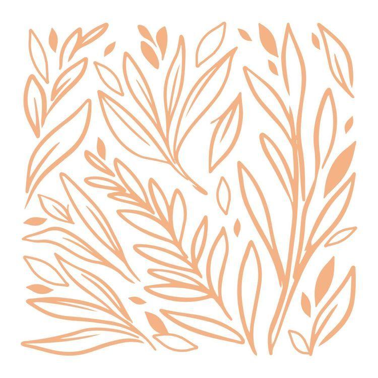 Leafy Background Mini Stamp (1pc)