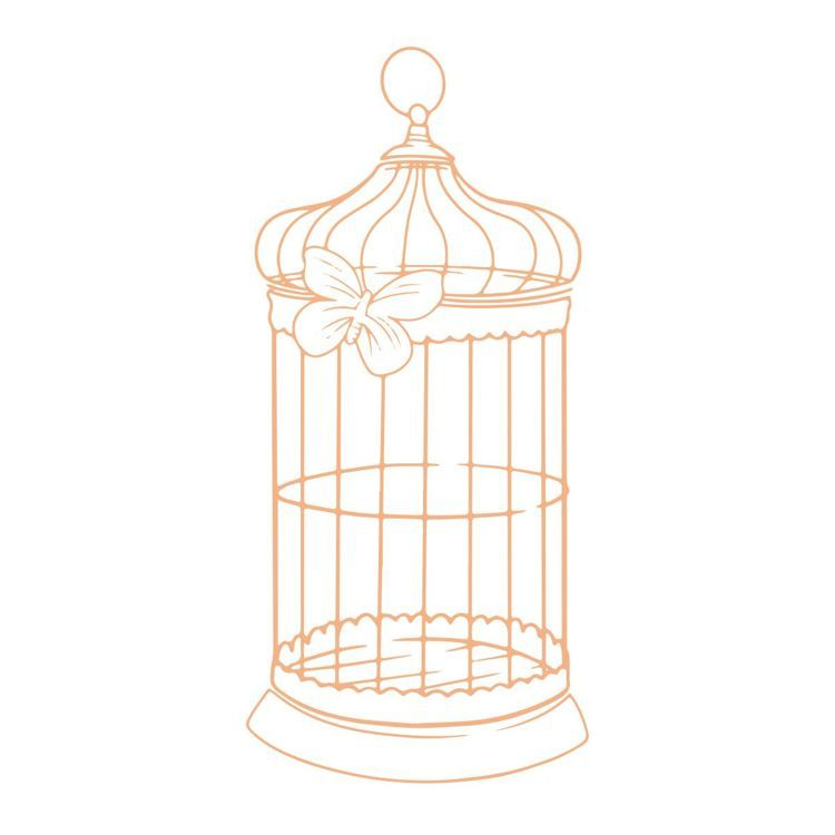 Butterfly Cage Mini Stamp (1pc)