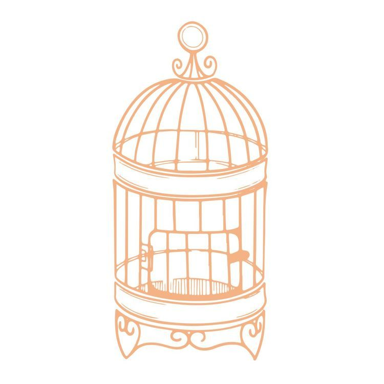 Small Birdcage Mini Stamp (1pc)
