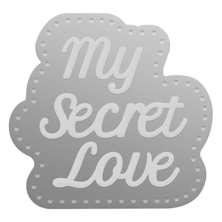My Secret Love Sentiment Mini Die Set (2pc)