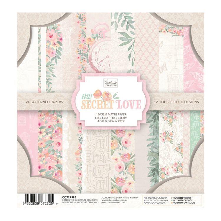 My Secret Love 6.5 x 6.5 Paper Pad (24 sheets)
