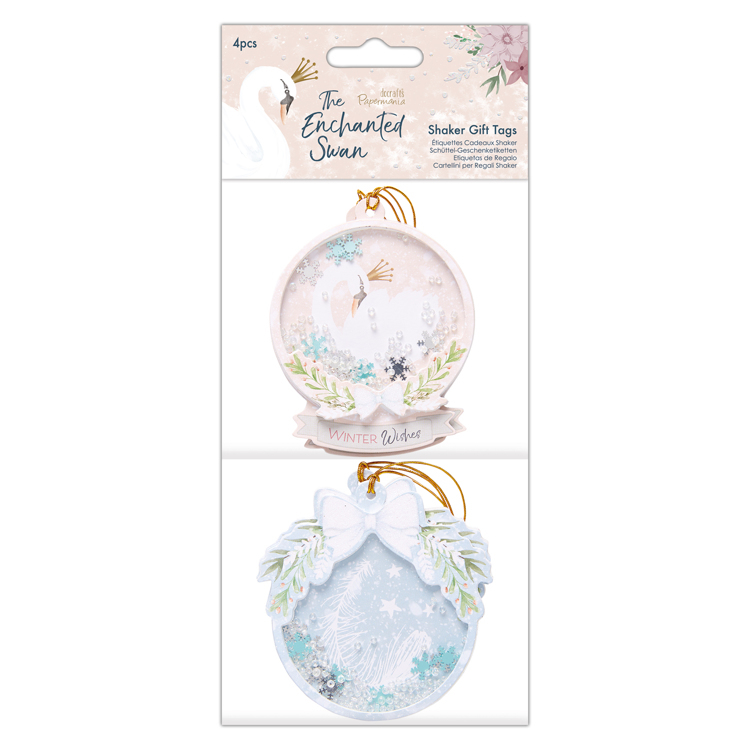 Shaker Gift Tags (4pcs) - The Enchanted Swan
