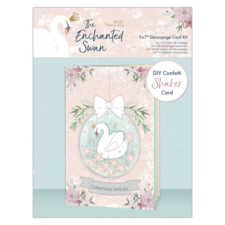 5x7 Decoupage Shaker Card Kit  The Enchanted Swan