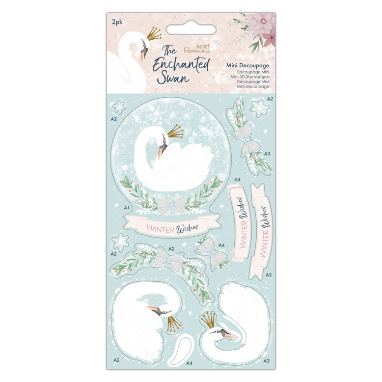 Mini Decoupage (2pk) - The Enchanted Swan