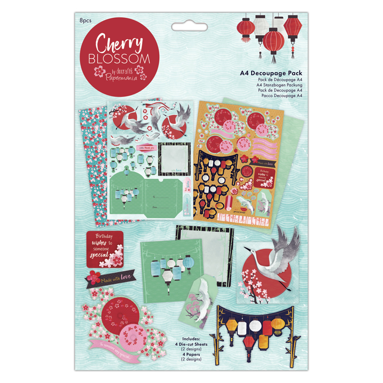 A4 Decoupage Pack - Cherry Blossom