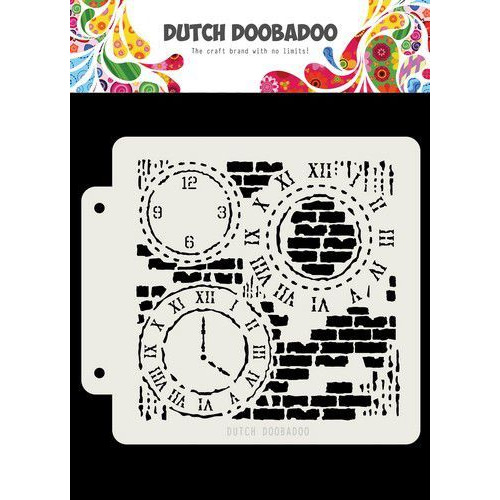 Dutch Doobadoo Dutch Mask Art Grunge Clock  163x148 470.715.154 (05-20)