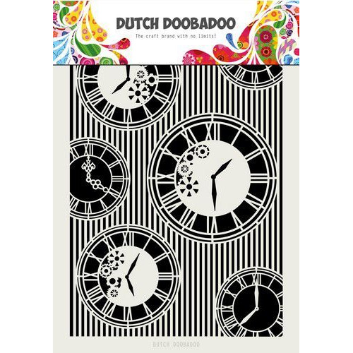 Dutch Doobadoo Dutch Mask Art Clocks & Stripes A4 470.715.814 (05-20)