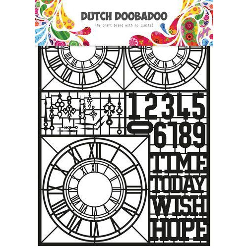Dutch Doobadoo Dutch Paper Art Clocks A5 472.950.007 (05-20)