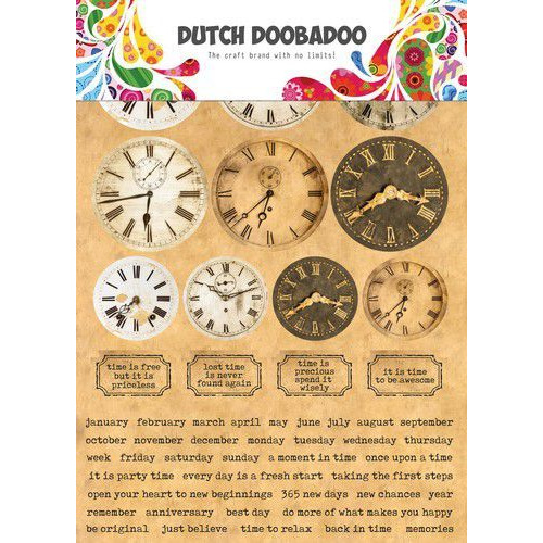 Dutch Doobadoo Dutch Sticker Art A5 Clocks 491.200.003 (05-20)