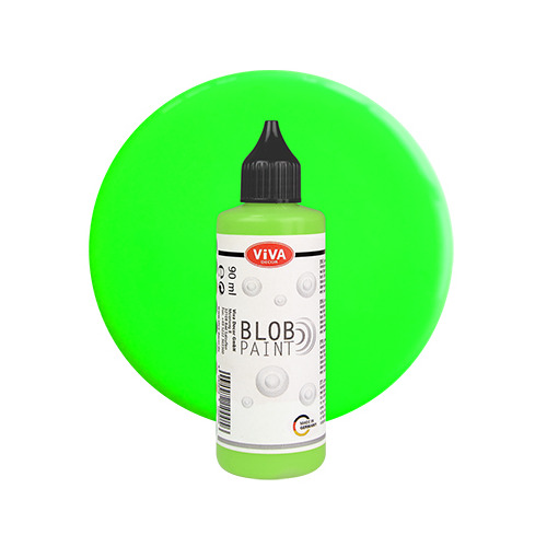 Blob Paint, Neon Grün