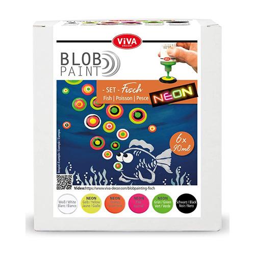 Blob Paint FarbSet Fisch