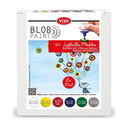 Blob Paint FarbSet Luftballon-Mädchen