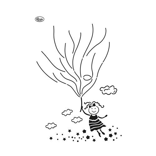 Blob Paint, Universal-Schablone, Luftballon Mädchen