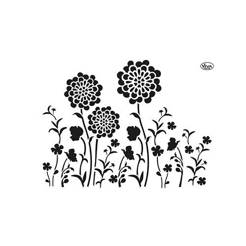 Blob Paint, Universal-Schablone, Blumenwiese