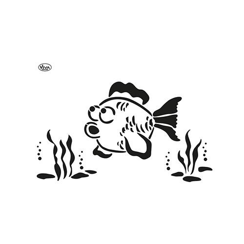 Blob Paint, Universal-Schablone, Fisch