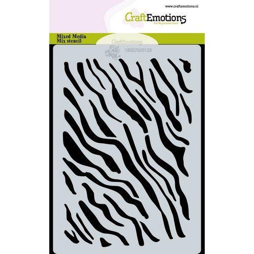 CraftEmotions Mask stencil tijger-zebra print A6 Carla Creaties (05-20)