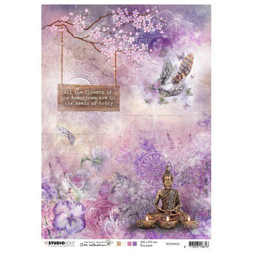 Studio Light Rice Paper A4 vel Jenine's Mindful Art 4.0 nr.26 RICEJMA26 (06-20)