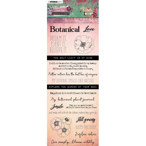Studio Light Chipboard Elements Just Lou Botanical Collection nr.03 CBJL03 (06-20)