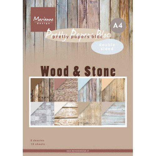 Marianne D  Paperpad Wood Stone A4 PK9170 A4 (06-20)