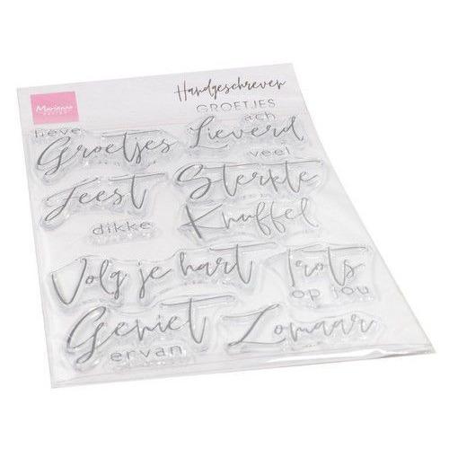 Marianne D Clear Stamps Handgeschreven - Groetjes (NL) CS1063 115 x 185 mm (06-20)