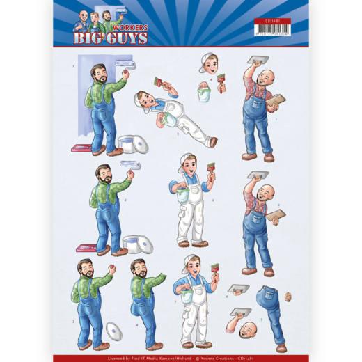 3D Cutting sheet - Yvonne Creations - Big Guys - Workers - Handyman