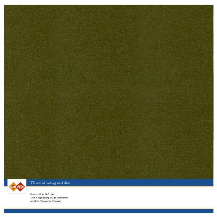 Linen Cardstock - SC - Pine Green