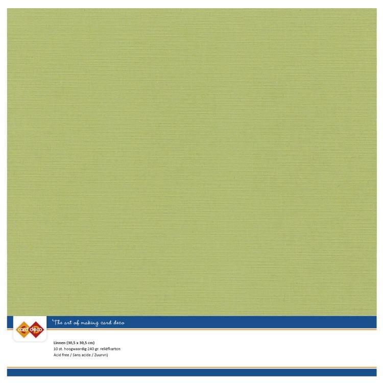 Linen Cardstock - SC - Avocado Green