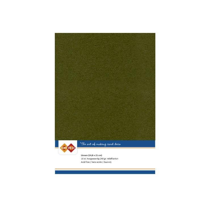 Linen Cardstock - A5 - Pine Green