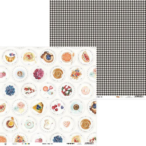 Piatek13 - Paper Around the table 06 P13-TAB-06 12x12 (06-20)