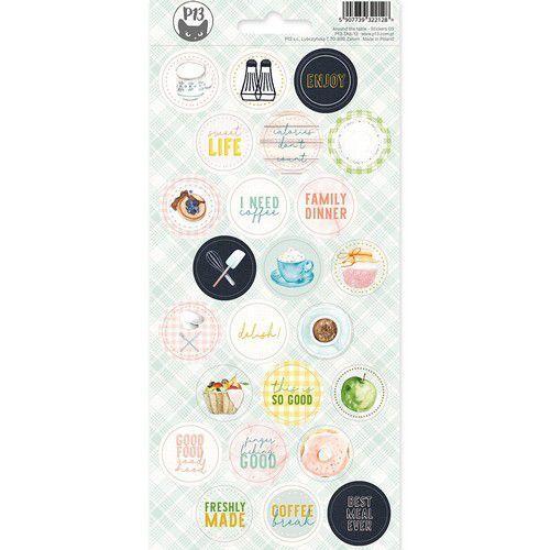 Piatek13 - Sticker sheet Around the table 03 P13-TAB-13 10,5 x 23cm (06-20)