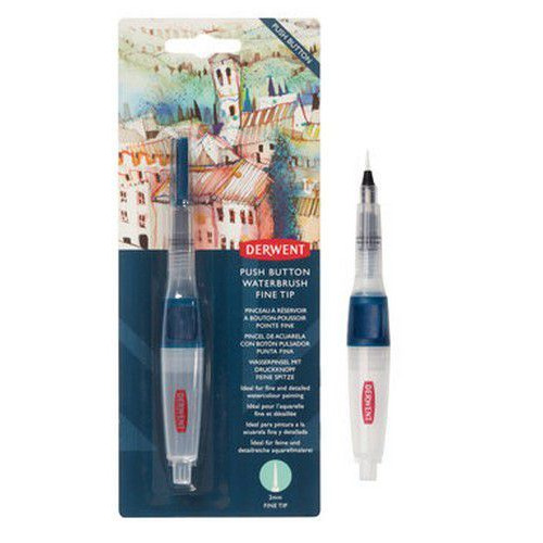 Derwent Push Button Waterbrush Fine DWB2305821