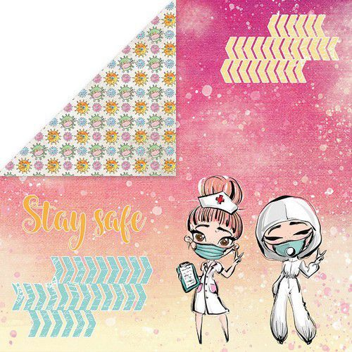Craft&You Stay at home Scrapbooking single paper 12x12 CP-SAH02 (05-20)