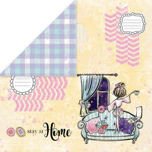 Craft&You Stay at home Scrapbooking single paper 12x12 CP-SAH03 (05-20)