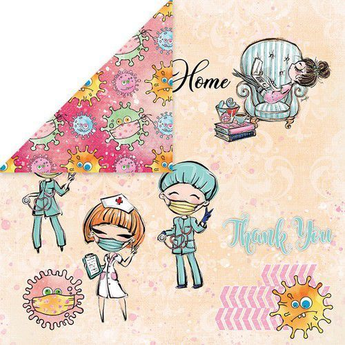 Craft&You Stay at home Scrapbooking single paper 12x12 CP-SAH06 (05-20)