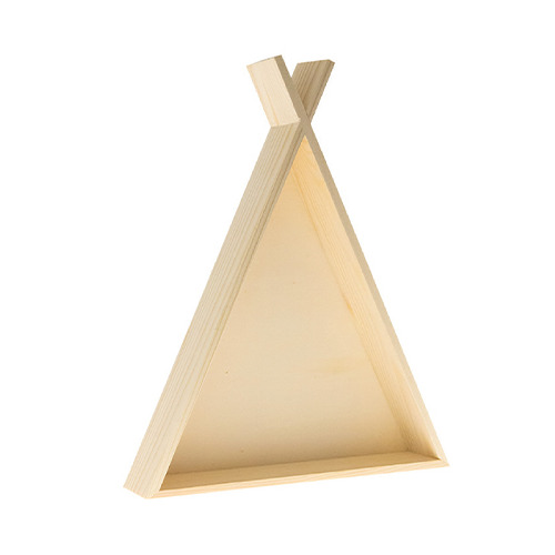 Wooden Tipi tent with hanger