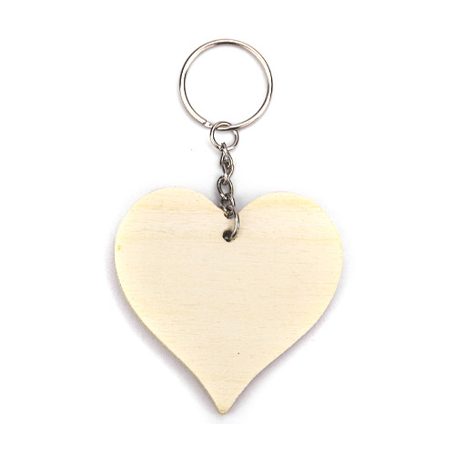 Wooden Keychain Heart