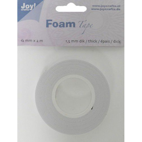 Joy! Crafts Foam Tape 1,5mm wit 6500/0022 12mmx2mtr