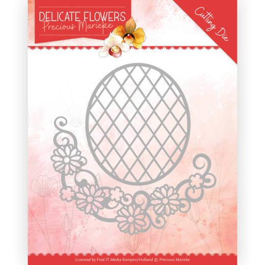 Dies - Precious Marieke Delicate Flowers - Delicate Flower Oval